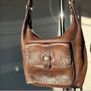 Fossil Genuine Leather Brown Cross Body Purse